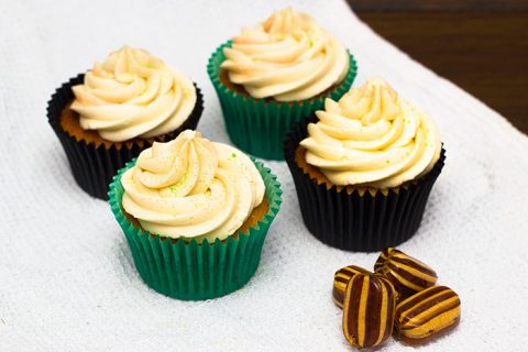 Peppermint Humbug cupcakes