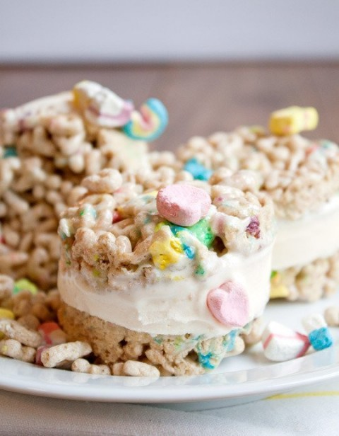 Lucky Charms Cereal Ice Cream photo