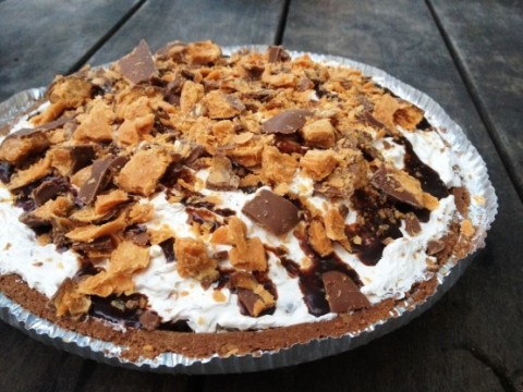 Butterfinger Candy Bar Cream Pie